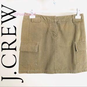 J. Crew Mini Khaki Tan Cotton Skirt